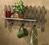 Park-Designs-Rustic-Weathered-Beach-Garden-Fence-Wall-Decor-Shelf-with ...