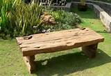 rustic garden tables