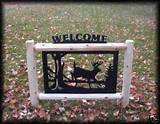 Fence Deer Outdoor Signs Lawn Garden Hunting Rustic Log Decor and Sign ...