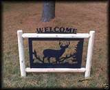 Fence Deer Outdoor Signs Lawn Garden Rustic Log Decor | eBay