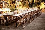Outdoor Wedding With Long Reception Tables : Wedding Decor Gallery