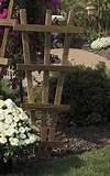 amish wooden small rustic garden trellis amish trellises 2307