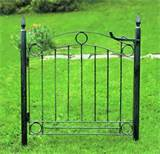 Country Cottage Iron Rustic Garden Gate