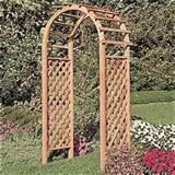 ... Lattice Arbor - Outdoor Living - Outdoor Decor - Arbors & Trellises