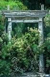 rustic garden entry arbor