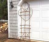 rustic garden trellis from eco friendly birch by snlcreations