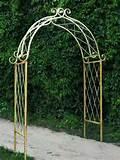 rustic garden wrought iron x arch trellis arbor garden decor
