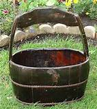 rustic maddie wood water bucket traditional outdoor decor other