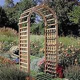 Rustic Natural Cedar Standard Arbor - Outdoor Living - Outdoor Decor ...