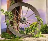 rustic western wagon wheel trellis garden yard decor new ebay