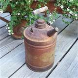 metal gas can garden patio decor primitive rustic collectible
