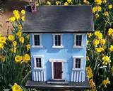 primitive birdhouse rustic country folk art salt box garden yard home