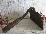 primitive rustic chic metal hoe rusty crusty shabby chic outdoor decor