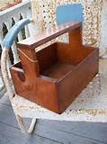 wooden box vintage tool box planter garden decor cabin primitive