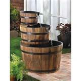 Rustic Apple Barrel Outdoor Garden Decor Electric Water Fountain ...