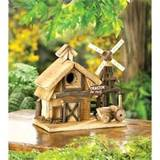 Rustic Country Barnyard Outdoor Garden Decor Wood Birdhouse | eBay