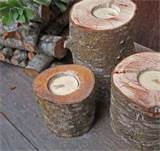 green rustic handmade candle holders for outdoor indoor decor