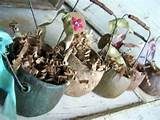 garden pots primitive rustic home decor farmhouse pastels shabby