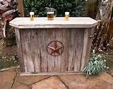 hand made weathered wood outdoor bar and you can choose the