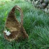 joyce rustic wild grapevine basket cottage wedding handmade outdoor