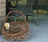 rustic vine basket cottage wedding handmade outdoor nature decor