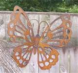 view enlarged image rustic butterfly garden stake this custom designed