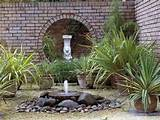 simple backyard landscaping ideas that inslude diy water fountain