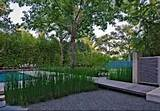 landscape house in the garden design in dallas