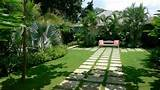 modern private garden tropical stylish landscape design