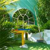 ... with wall mirror | Small garden design ideas | housetohome.co.uk