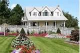 backyard flower garden planting idea