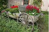 buckboard wagon planter idea