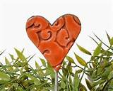 heart garden art valentines decoration lawn ornament bouquet