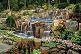 Rock waterfalls and landscaping ideas Saddle River NJ