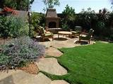 rock garden backyard ideas for exotic exterior look