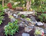 rock garden backyard ideas for exotic exterior look building home
