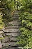 native rock garden stairs