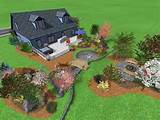 with this backyard design we offer a wide variety of trees plants