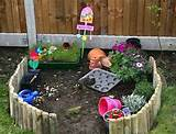 backyard activity center ideas for kids with mini garden