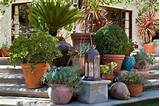 container garden can create interest at the edge of a patio. This ...