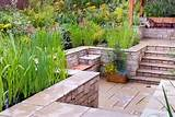 Patio on several levels in backyard beautiful landscaping   Plant ...