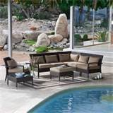 home and garden for resin wicker patio set ideas sectional poolside