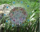 clear sun catcher garden flower p late unique garden decor made with ...