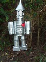spam tin can man wizard of oz yard art decor garden unique cute