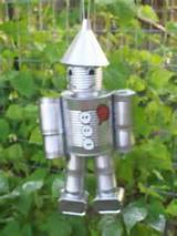 spam too tin can man wizard of oz yard art decor garden unique cute