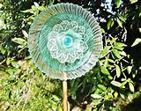 AQUA GLASS Garden Plate FLower
