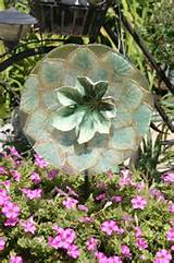 Garden Art Sun Catcher Glass Plate Flower by GlassBlooms - on Etsy