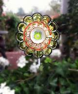 beautiful vintage glass garden flowers all colors