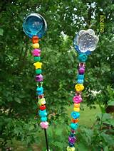 flower pot birdfeeder handmade decorative glass beaded garden by