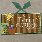 personalized outdoor garden wall door sign